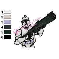 Clone Trooper Star Wars Embroidery Design