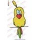 Colored Cartoon Bird Embroidery Design