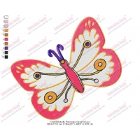 Colorful Butterfly Embroidery Design 02