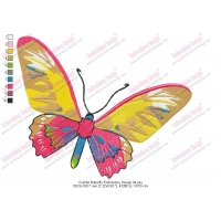 Colorful Butterfly Embroidery Design 04