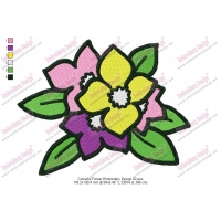 Colourful Flower Embroidery Design 02