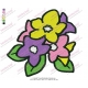 Colourful Flower Embroidery Design