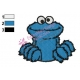 Cookie Monster Face Embroidery Design 03