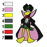 Count Duckula Embroidery Design 02