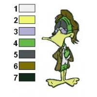 Count Duckula Embroidery Design 03