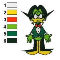 Count Duckula Embroidery Design 05