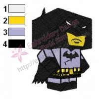 Cube Batman Embroidery Design