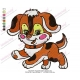 Cute Baby Dog Embroidery Design