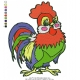 Cute Rooster Embroidery Design