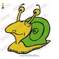 Cute Snail Slimo Embroidery Design