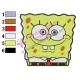 Cute SpongeBob SquarePants Embroidery Design