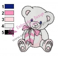 Cute Teddy Bear Embroidery Design