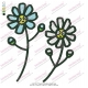 Cute Two Flowers Embroidery Design