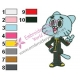 Cyber Hero Amazing World of Gumball Embroidery Design