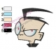 DIB Face Invader Zim Embroidery Design