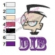DIB Invader Zim Embroidery Design 03