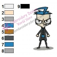 DIB Invader Zim Embroidery Design 04