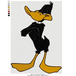 Daffy Duck Embroidery Bird 05