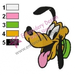Dog pluto Embroidery Cartoon 07