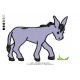 Donkey Embroidery Design 1