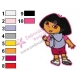 Dora Embroidery Design 10