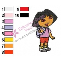 Dora The Explorer Embroidery Design 02