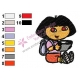 Dora The Explorer Embroidery Design 05