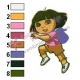 Dora The Explorer Embroidery Design 08