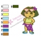 Dora The Explorer Embroidery Design 10