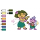 Dora The Explorer Embroidery Design 11