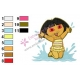 Dora The Explorer Embroidery Design 12