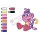 Dora The Explorer Embroidery Design 13