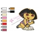 Dora The Explorer Embroidery Design 14