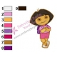 Dora The Explorer Embroidery Design 16
