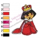 Dora The Explorer Princess Embroidery Design 01