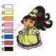 Dora The Explorer Princess Embroidery Design