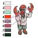 Dr Zoidberg Futurama Embroidery Design 02