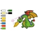 Dragon Strong Embroidery Design