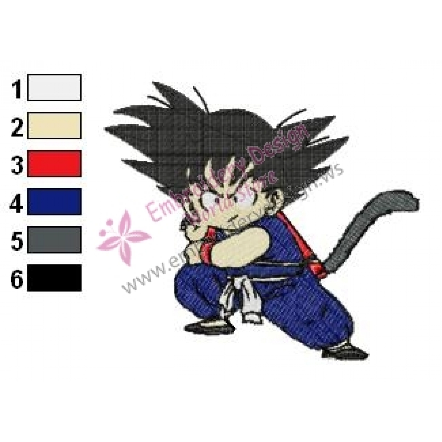 Dragonball Z Embroidery