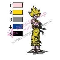 Dragonball Z GOKU Embroidery