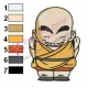 Dragonball Z Krillin Embroidery 02