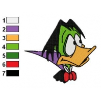 Duckula Face Embroidery Design 02