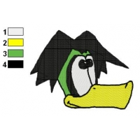 Duckula Face Embroidery Design