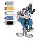 Dudley Puppy Embroidery Design