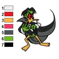 Evil Count Duckula Embroidery Design