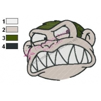 Evil Monkey Face Family Guy Embroidery Design