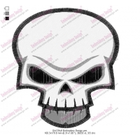 Evil Skull Embroidery Design