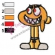 Evil Watterson The Amazing World of Gumball Embroidery Design