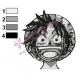 Face of Luffy One Piece Embroidery Design