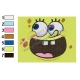 Face of SpongeBob SquarePants Embroidery Design